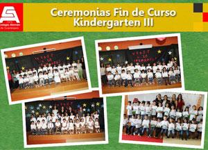 Ceremonia de Fin de cursos de Kindergarten III